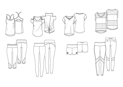 Produce professional & technical CAD drawings - x2 garments