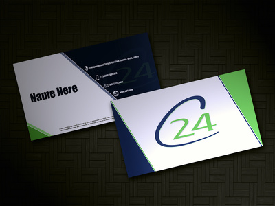 Design UNIQUE business card and do 2 realistic mockups