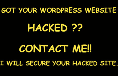 Fix & Repair your hacked WordPress Website