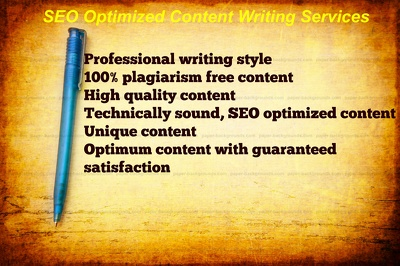 Write upto 800 Words SEO Optimized, Well Researched and High Quality Article Content