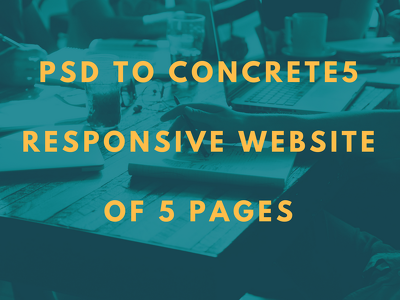 Psd to concrete5 Responsive site of 5 pages