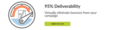 Clean / verify your mailing list with detailed report