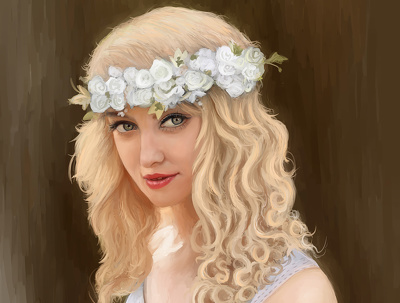 Deliver Digital Portrait Painting!!- High quality- Flat $100