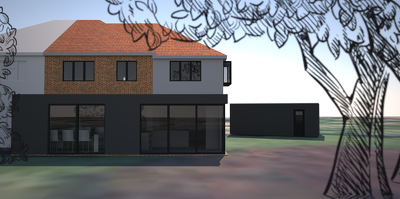 Create a full colour 3D model of your property in SketchUp from a simple set of plans