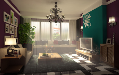 Planning, 3D Modeling and Realistic Rendering of Interiors