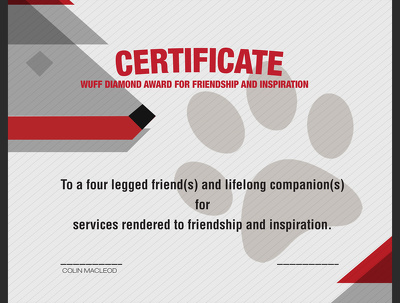 Create a beautiful diploma and/or certificate