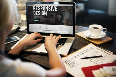 Create a single page fully responsive website with parallax effect
