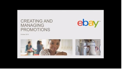 Provide an eBay Promotions Manager Report