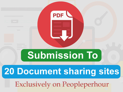 Do a PDF submission to 20 document sharing sites