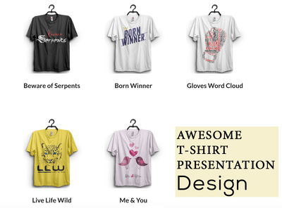 Do awesome T shirt mock ups
