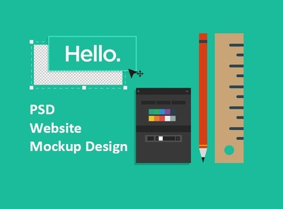 Create a beautiful  psd website mockup or web template