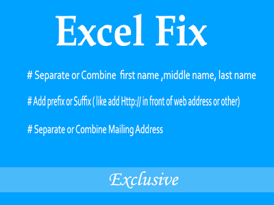 Combine Excel cell into One or Separate one into Many