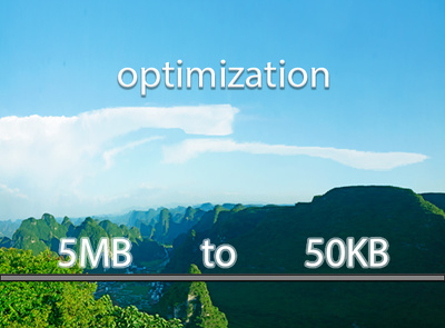 Reduce 10 Image size or optimization images for website