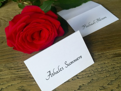 Write x10 place cards in calligraphy