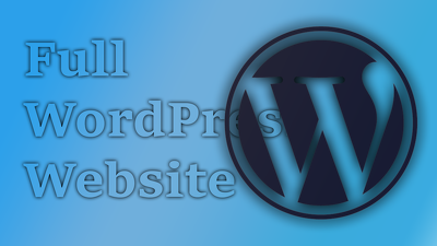 Create you full wordpress website up to 6 pages