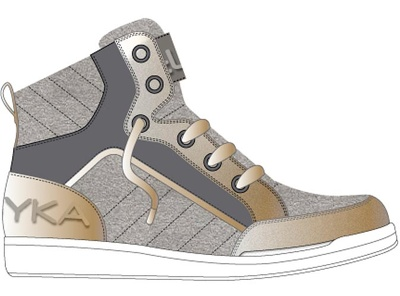 Propose you 1 new design of shoe with same type of rendering as shown