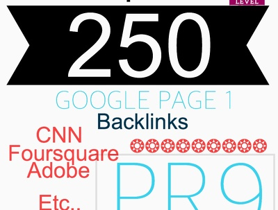 Boost your Google Rankings with up to 250 High PR9 and PR8 backlinks social Backlinks