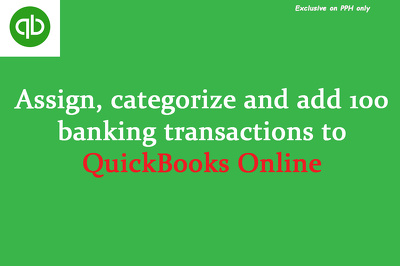 Add 100 transactions in QuickBooks online