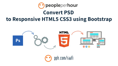 Convert PSD to Responsive HTML5 CSS3 using Bootstrap