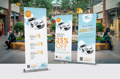 *Premium*  Design a Top Quality Rollup Banner / pop up banner / bannerstand [50% OFF]