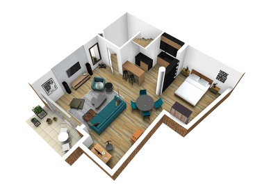 Create detailed and precise 3d floor plan