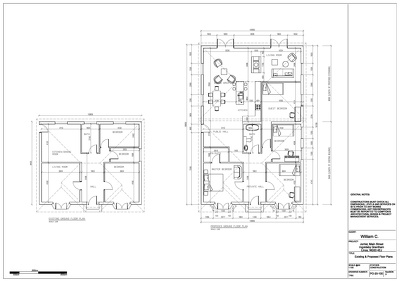 provide planning applications drawings for single story rear extension