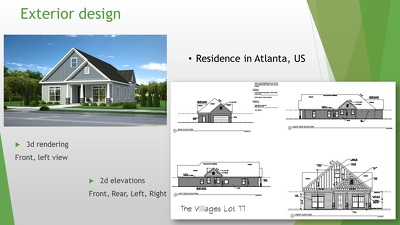 Provide full package of a 1 story house design