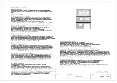 Full package of drawings for UK Building regulation_ rear extension & loft conversion