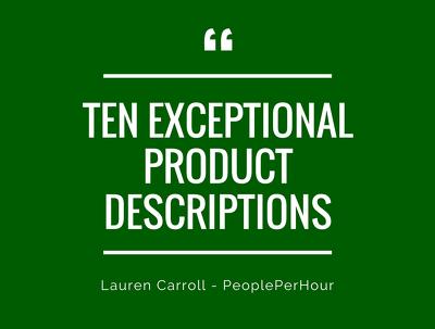 Write x10 sparkling product descriptions