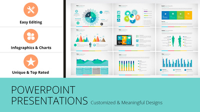 Design 10 creative slides (Powerpoint presentation) with unlimited revisions