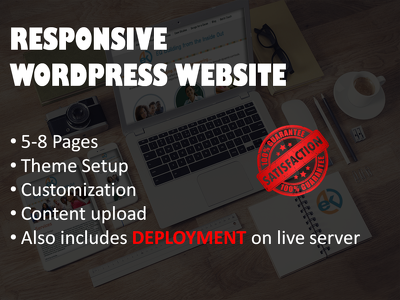 Create 5-8 page Wordpress Business Website and make it LIVE with actual content