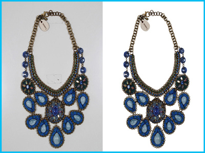 Professionally cut out background 20 jewellery photos