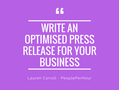 Write a dynamic press release for your business