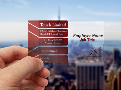 Design transparent businesscard