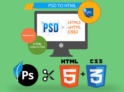 Convert your PSD to HTML/CSS fully responsive
