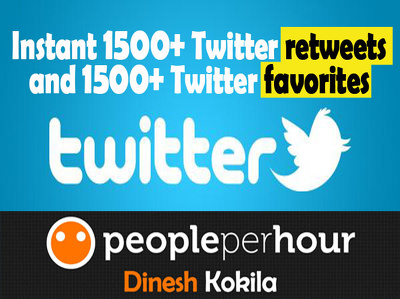 Provide INSTANT 1500+ Twitter retweets and 1500+ Twitter favorites in 24hrs