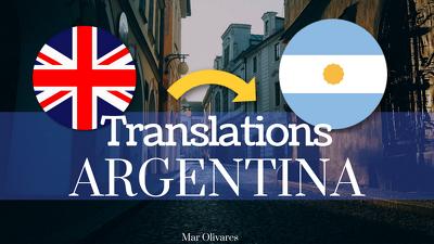 Translate 500 words into Argentine Spanish