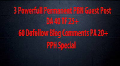 Provide You 3 Extremely Powerfull Homepage PBN Guest Post