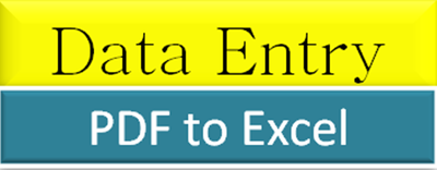 Transfer data from PDF file to excel about 1000 entries