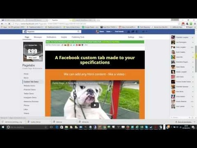 Resize your website in Facebook and add custom tabs and bonuses