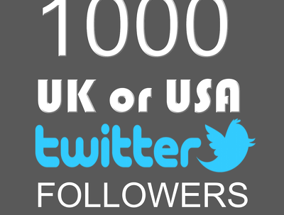 Add you  1000 UK or 1000 USA  Twitter followers