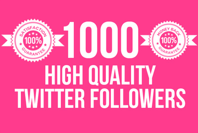 Add 1000 high quality followers to your Twitter profile