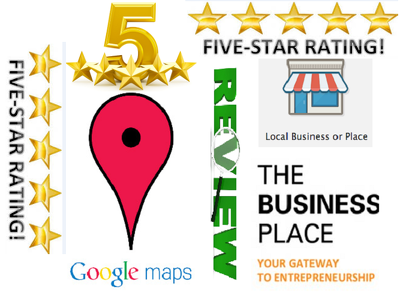 Review your google business place 5 star rating