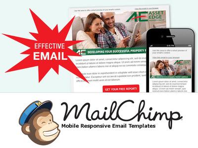 create custom responsive editable Mailchimp Template