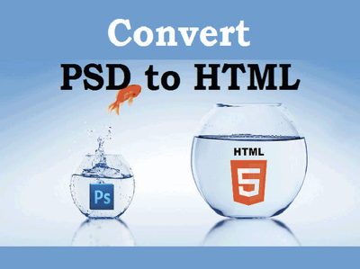 Convert your PSD to responsive HTML web page