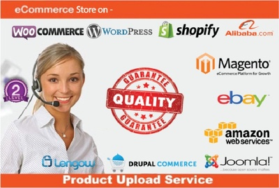 Add 50 products to any Ecommerce store i.e. Shopify, Magento, eBay etc.