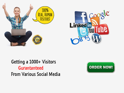 Get upto 3000 real human traffic from different social media platforms