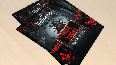 Design an awesome Halloween Party Flyer + digital and /or print ready