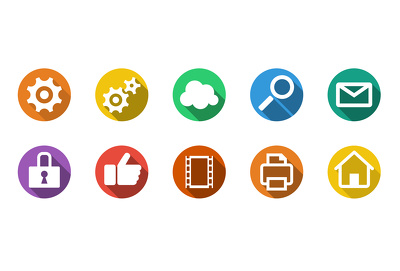 Create a set of 10 custom icons for your print job or website