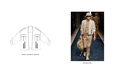 Create 1 technical drawings (CAD) for your fashion business.